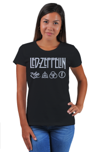 Футболка Лед Зеппелин лого и символы   Led Zeppelin logo symbols