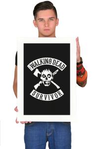 """Постер """"Ходячие мертвецы. Выживший""""   """"Walking Dead. Survivor"""""""