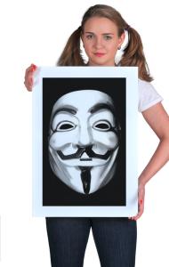 Постер Маска Гая Фокса, Анонимуса | Guy Fawkes, Anonymous Mask