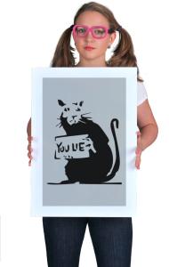 Постер Бэнкси. Ты лжешь. Крыса | Banksy. You Lie. Bond Street rat