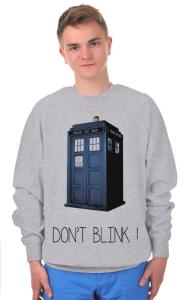 Свитшот Доктор Кто. Не моргай   Doctor Who. Don`t blink