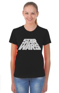 Футболка Звездные Войны лого титры | Star Wars logo titres