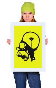 "Постер Гомер Симпсон. ""Brain"" | Homer Simpson. ""Brain"""