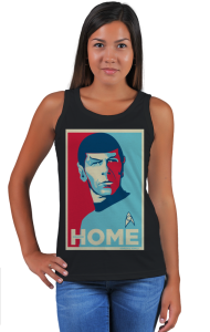 Футболка Звездный путь - Мистер Спок. Домой   Star Trek - Mr. Spock. HOME