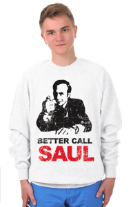 Свитшот Позвоните Солу. Гранж | Better call Saul