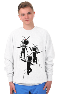Свитшот Танцующие ТВ головы | Dancing graffiti people with TV heads
