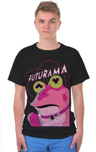 Футболка Футурама. Гипножаба | Futurama. Hypnofrog