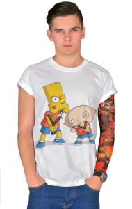 Футболка Стьюи и Барт   Stewie & Bart