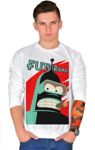 Свитшот Робот Бендер Футурама   Bender Futurama