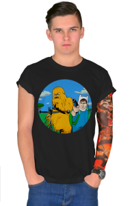 Футболка Чубакка и Хан Соло | Adventure Time