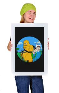 Постер Чубакка и Хан Соло | Adventure Time