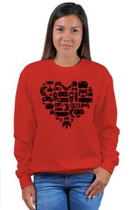 Свитшот Сердце Геймера | The Hearts Of Gamers