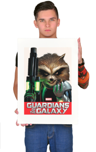 Постер Стражи Галактики. Ракета Енот | Rocket Raccoon