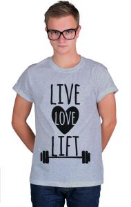 Футболка Живи Люби Поднимай | Live Love Lift