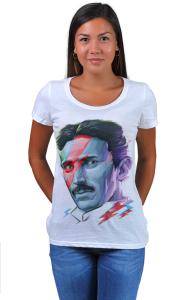 Футболка Постер Никола Тесла. Боуи | Nikola Tesla. Bowie