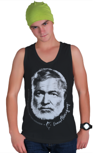 Футболка Плакат Эрнест Xемингуэй | Ernest Hemingway