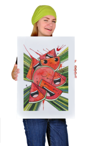 Постер Веселые арбузы |  Funny watermelon