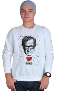 Свитшот Сердце Вуди Аллена   Woody Allen Heart