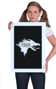 Постер Зима близко. Ледяной Дракон|Ice Dragon. Winter is coming