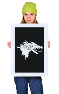 Постер ГОТ Зима Пришла | GOT Winter is here