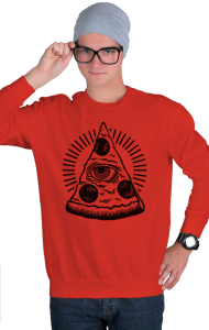 Свитшот Глаз Пиццы | Pizza Eye