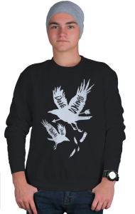 Свитшот ГОТ Тёмные крылья тёмные слова  GoT Dark wings Dark word