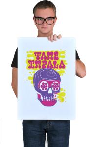 Постер Тэйм Импала Череп   Tame Impala Skull