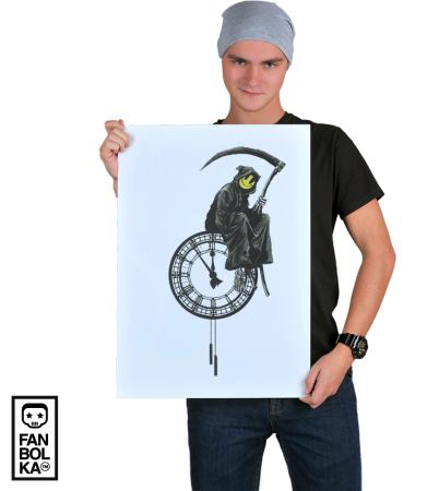 Постер Бэнкси Время Идет | Banksy Time Runs
